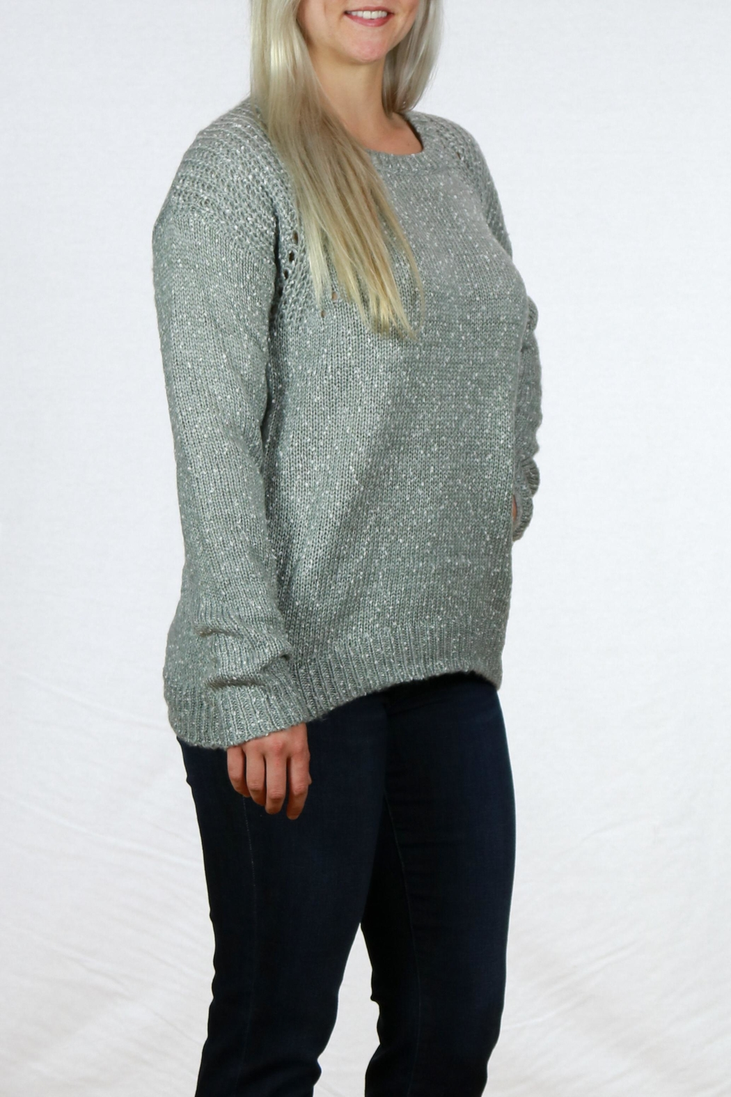 Doe & Rae Long Sleeve Pullover - Front Full Image