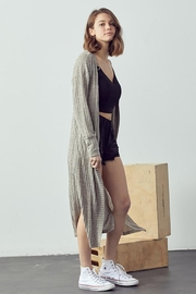 Doe & Rae Maxi Cardigan With Wooden Button - Other