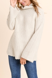 Doe & Rae Mock Twill Sweater - Front cropped