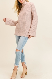Doe & Rae Mock Twill Sweater - Product Mini Image