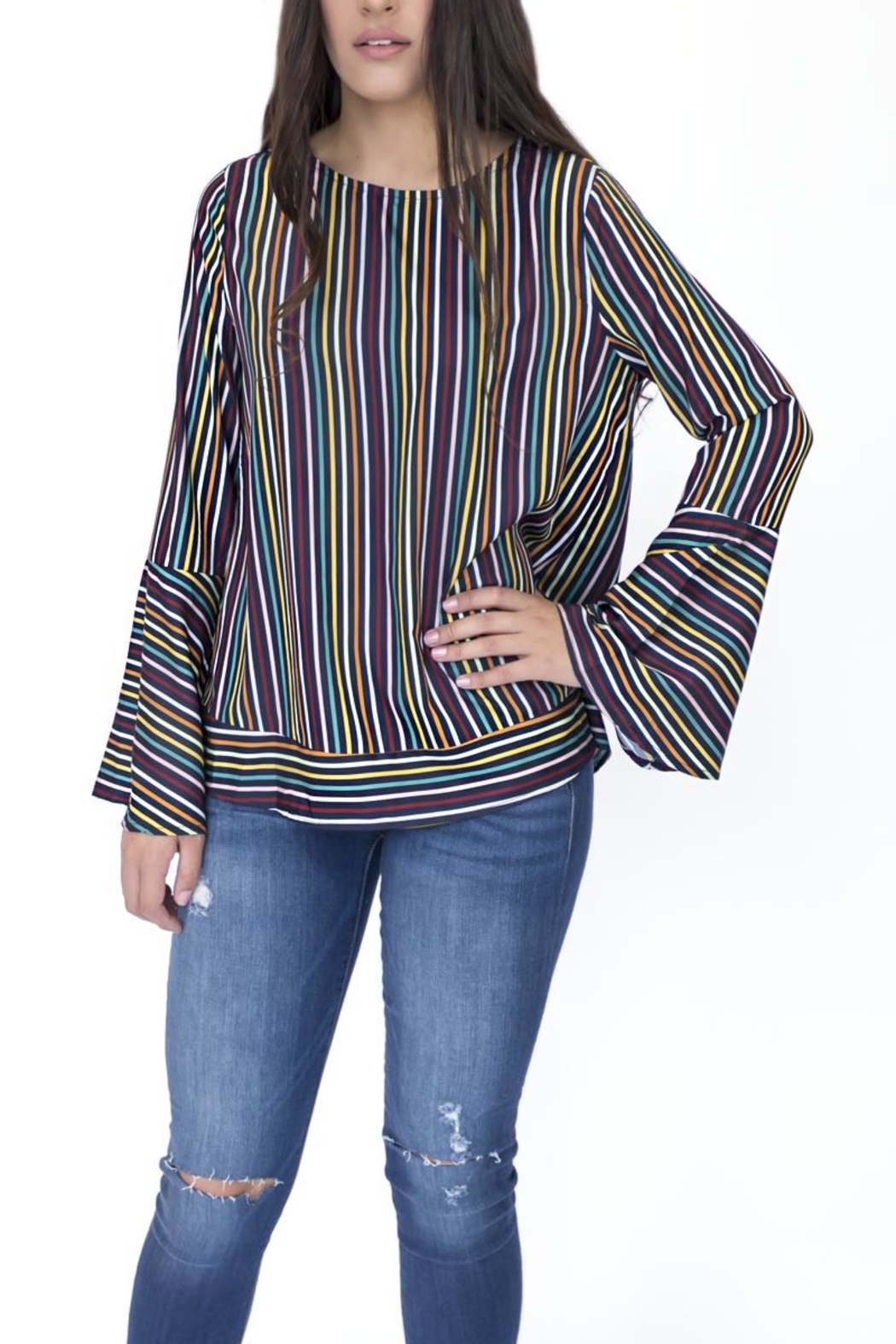 Doe & Rae Multicolor Striped Shirt - Front Full Image