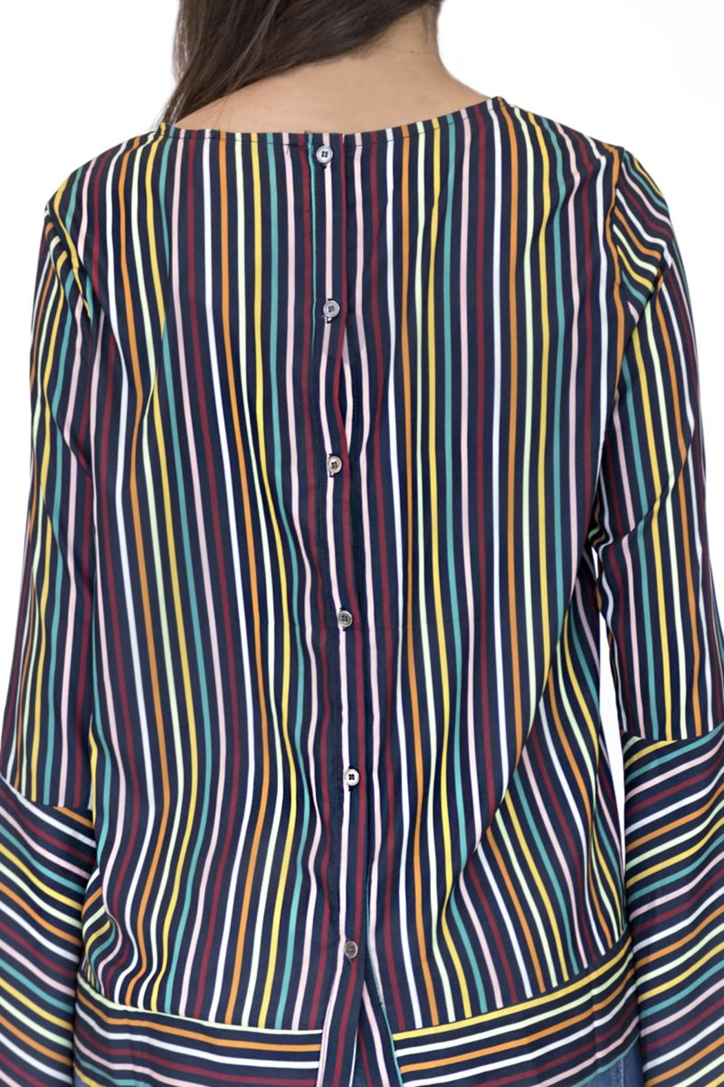 Doe & Rae Multicolor Striped Shirt - Side Cropped Image