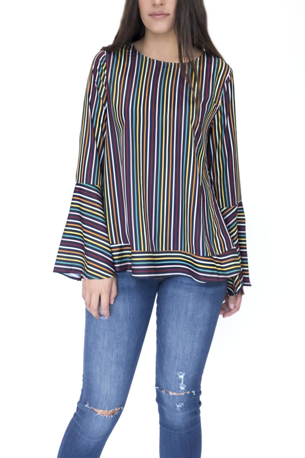 Doe & Rae Multicolor Striped Shirt - Main Image