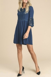 Doe & Rae Navy Lace Dress - Side cropped