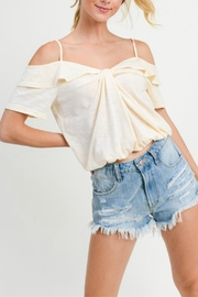 Doe & Rae Offshoulder Overlap Blouse - Product Mini Image