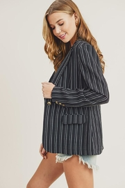 Doe & Rae One Button Stripe Blazer With Pocket - Product Mini Image