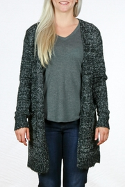 Doe & Rae Open Knit Cardigan - Front cropped