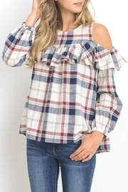 Doe & Rae Plaid Cold Shoulder - Product Mini Image