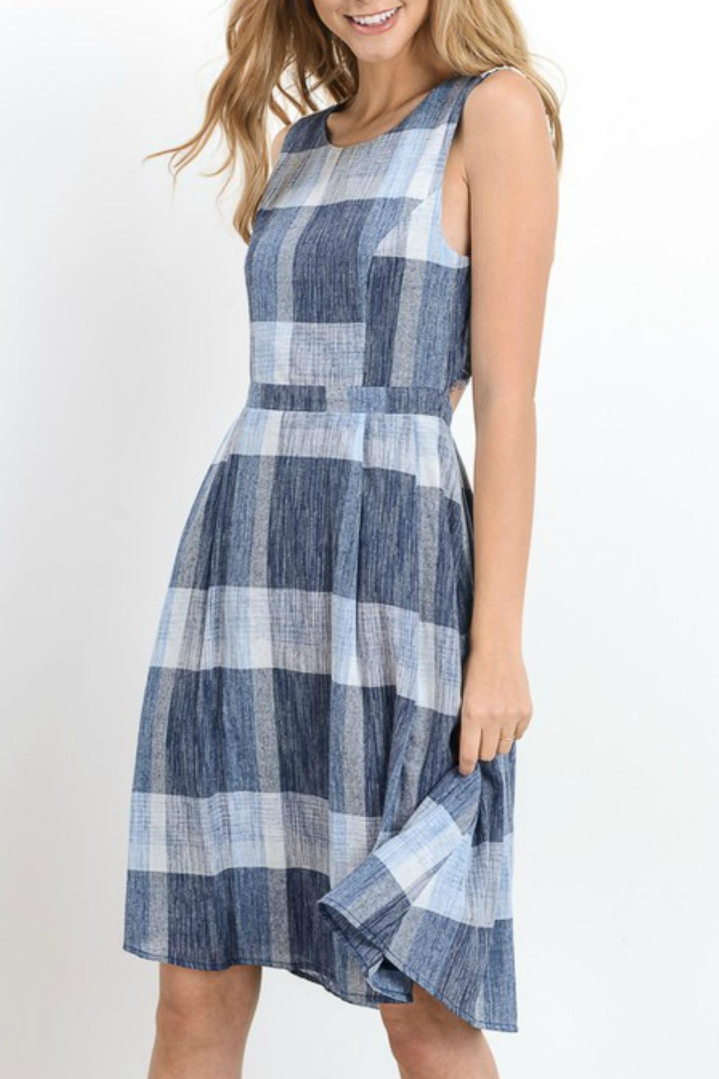 Doe & Rae Plaid Fit and Flare - Main Image