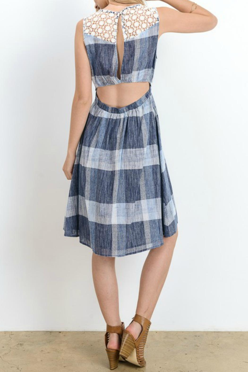 Doe & Rae Plaid Fit and Flare - Front Full Image