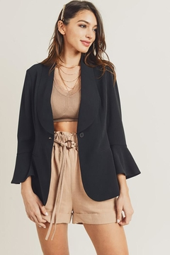 Doe & Rae Pleats Cuffs Blazer With Back Slit - Product List Image