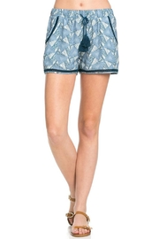 Doe & Rae Printed Drawstring Shorts - Product Mini Image