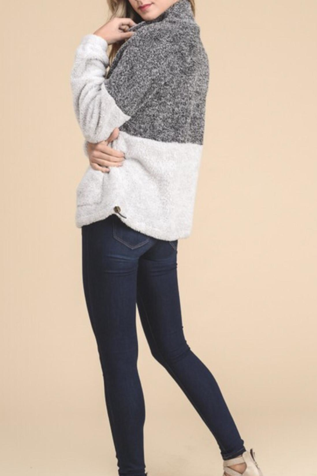 Doe & Rae Pull Zip Sweater - Side Cropped Image