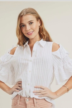 Doe & Rae Ruffle Sleeve Shirt - Product List Image