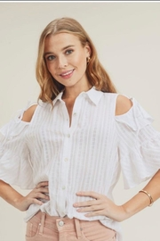 Doe & Rae Ruffle Sleeve Shirt - Product Mini Image