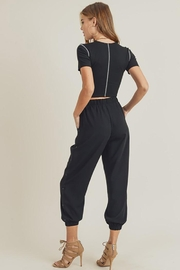 Doe & Rae Side Button Detail Leisure Pants - Other