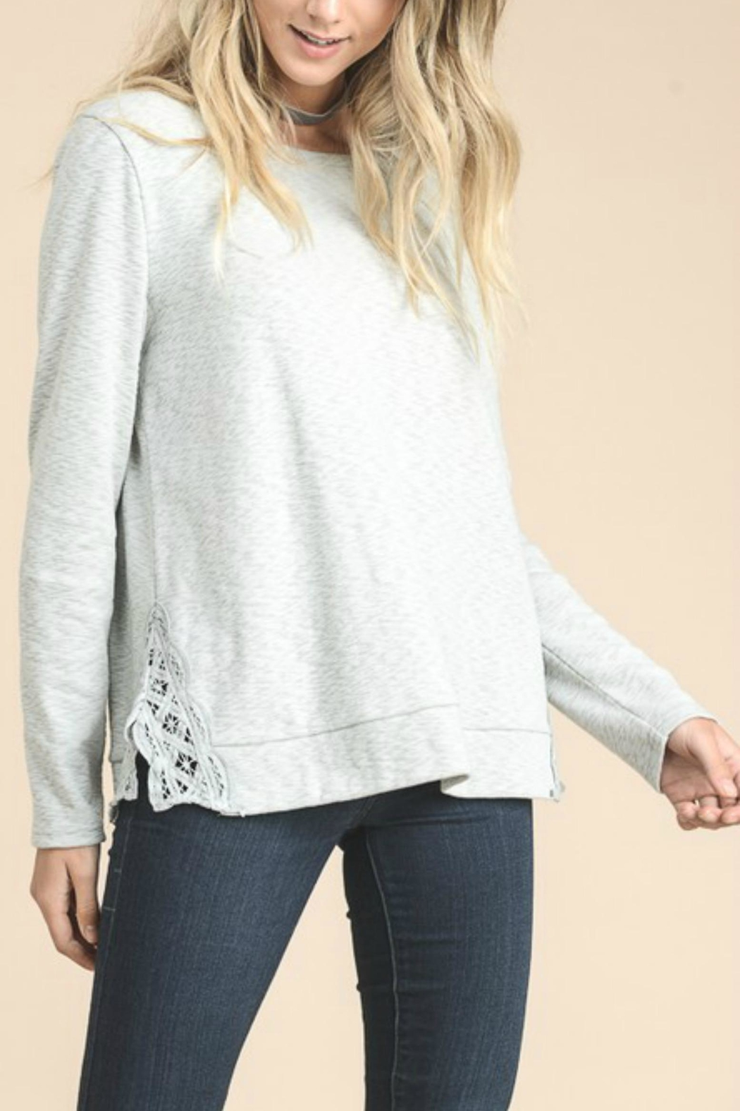 Doe & Rae Side Embroidery Top - Front Full Image