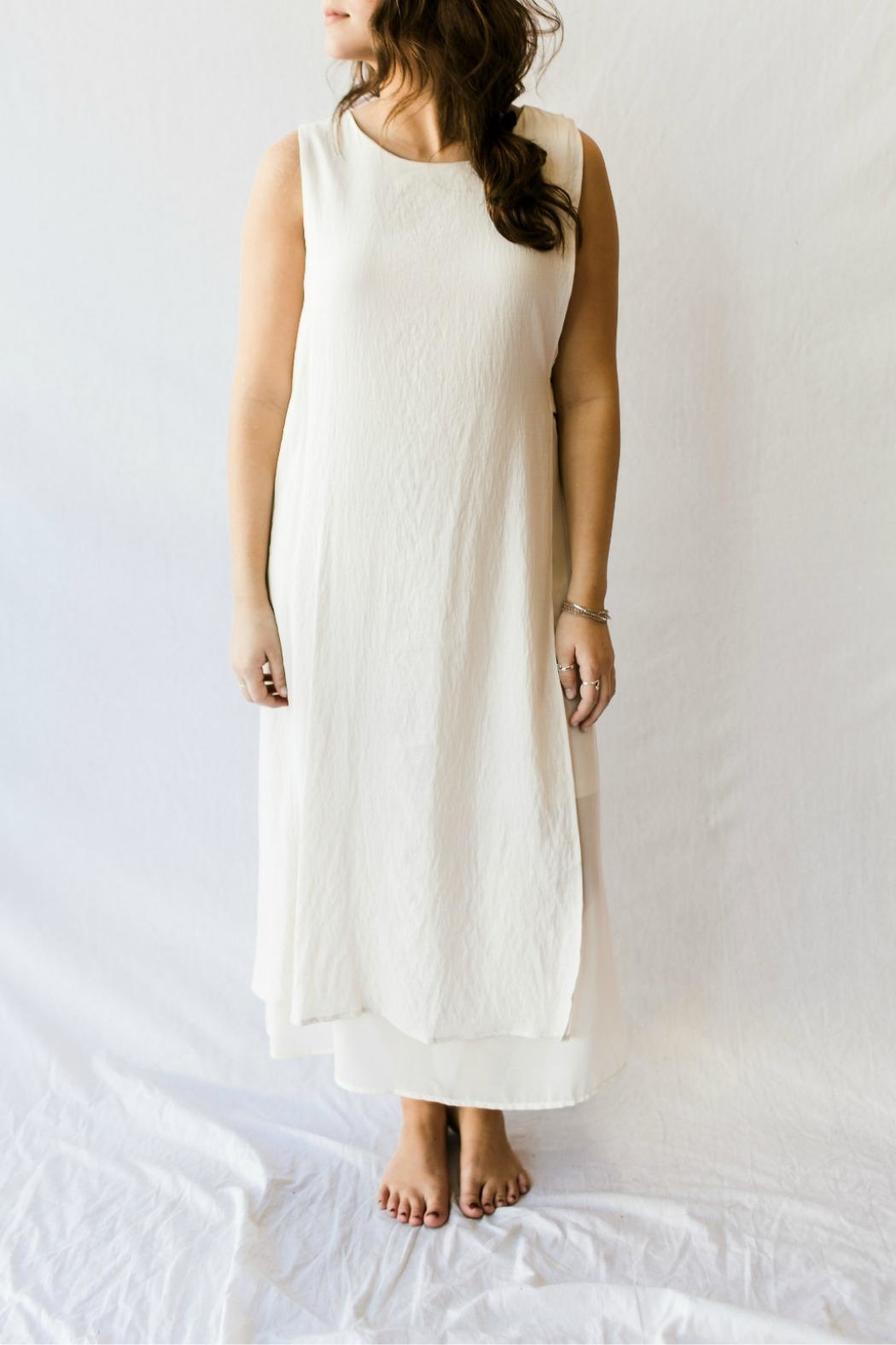 Doe & Rae Simple White Gown from Florida by Momni — Shoptiques