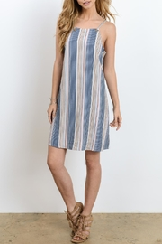 Doe & Rae Strappy Stripe Dress - Product Mini Image