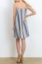 Doe & Rae Strappy Stripe Dress - Front full body