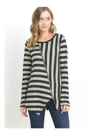 Doe & Rae Stripe Knit Sweater - Product Mini Image