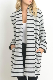Doe & Rae Stripe Long Jacket - Product Mini Image