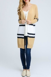 Doe & Rae Striped Long Cardigan - Product Mini Image
