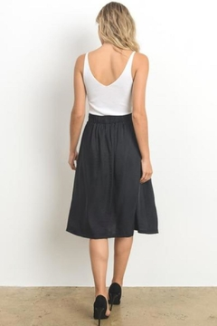 Doe & Rae Textured Midi Skirt - Alternate List Image