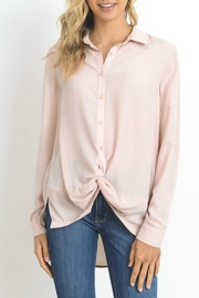 Doe & Rae Twisted Placket Shirt - Front cropped