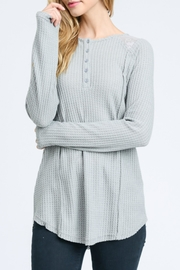 Doe & Rae Waffle Knit Top - Product Mini Image