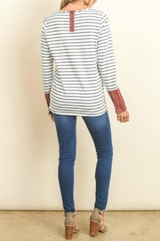 Doe & Rae Wide Cuff Top - Front full body