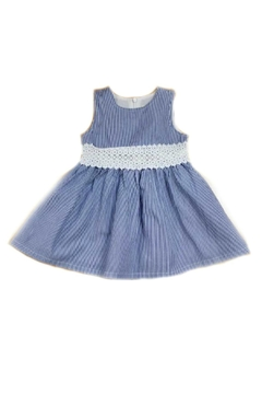 Doe a Dear Blue-Ticking-Stripe Dress - Product List Image