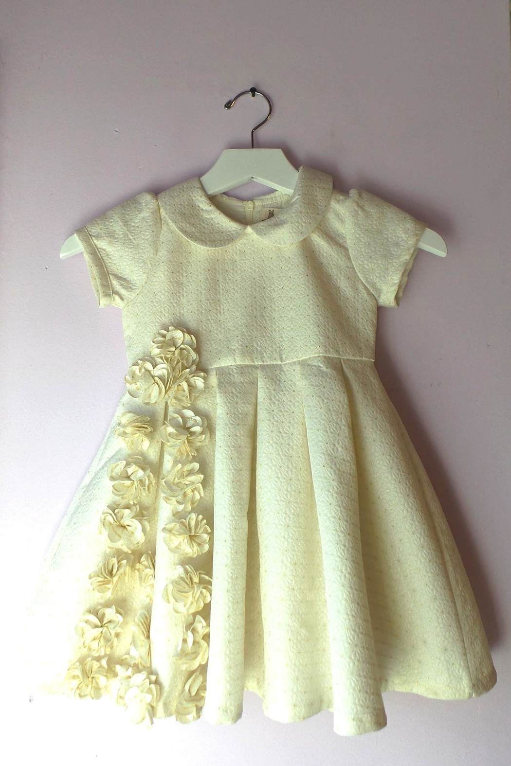 Doe a Dear Ivory Pleated Dress - Main Image