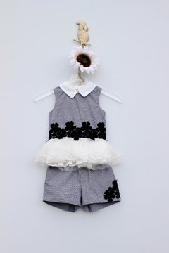 Doe a Dear Checker Organza Short Set - Alternate List Image