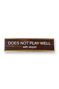 He Said, She Said Does Not Play Nameplate - Alternate List Image