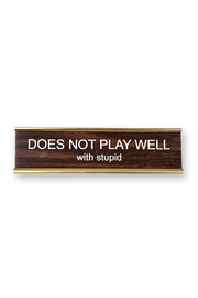 He Said, She Said Does Not Play Nameplate - Product Mini Image