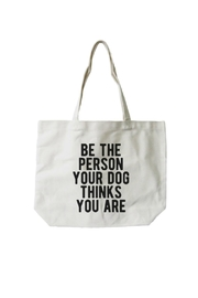 Local Artist  Dog Canvas Tote-Bag - Product Mini Image