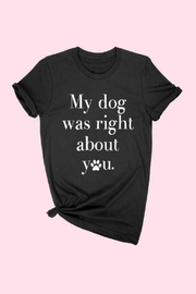 Izzie's Boutique Dog Graphic Tee - Product Mini Image