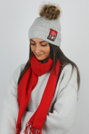 david and young Dog Mom Beanie - Front cropped