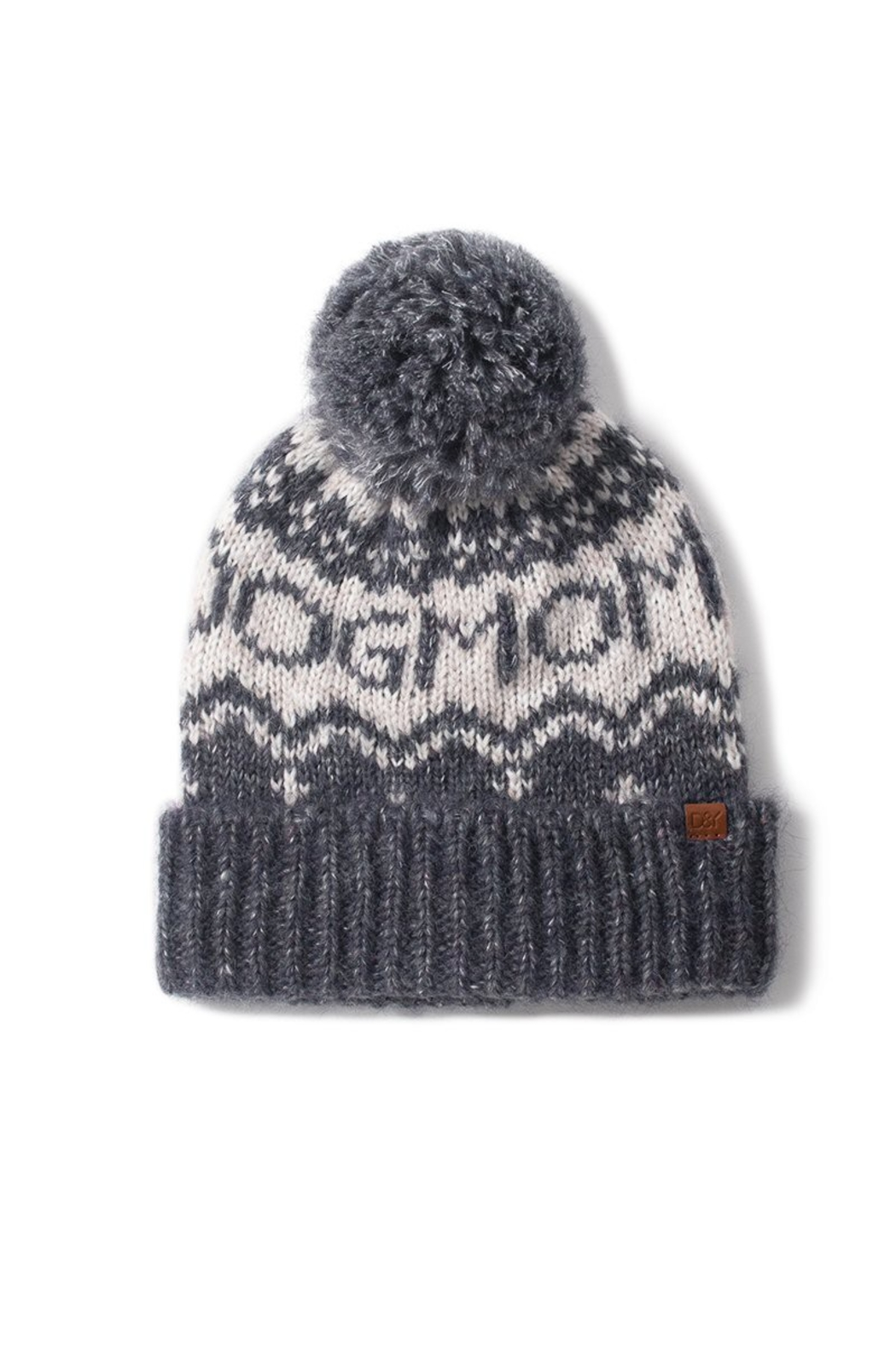 david and young Dog Mom Pom Beanie - Front Cropped Image