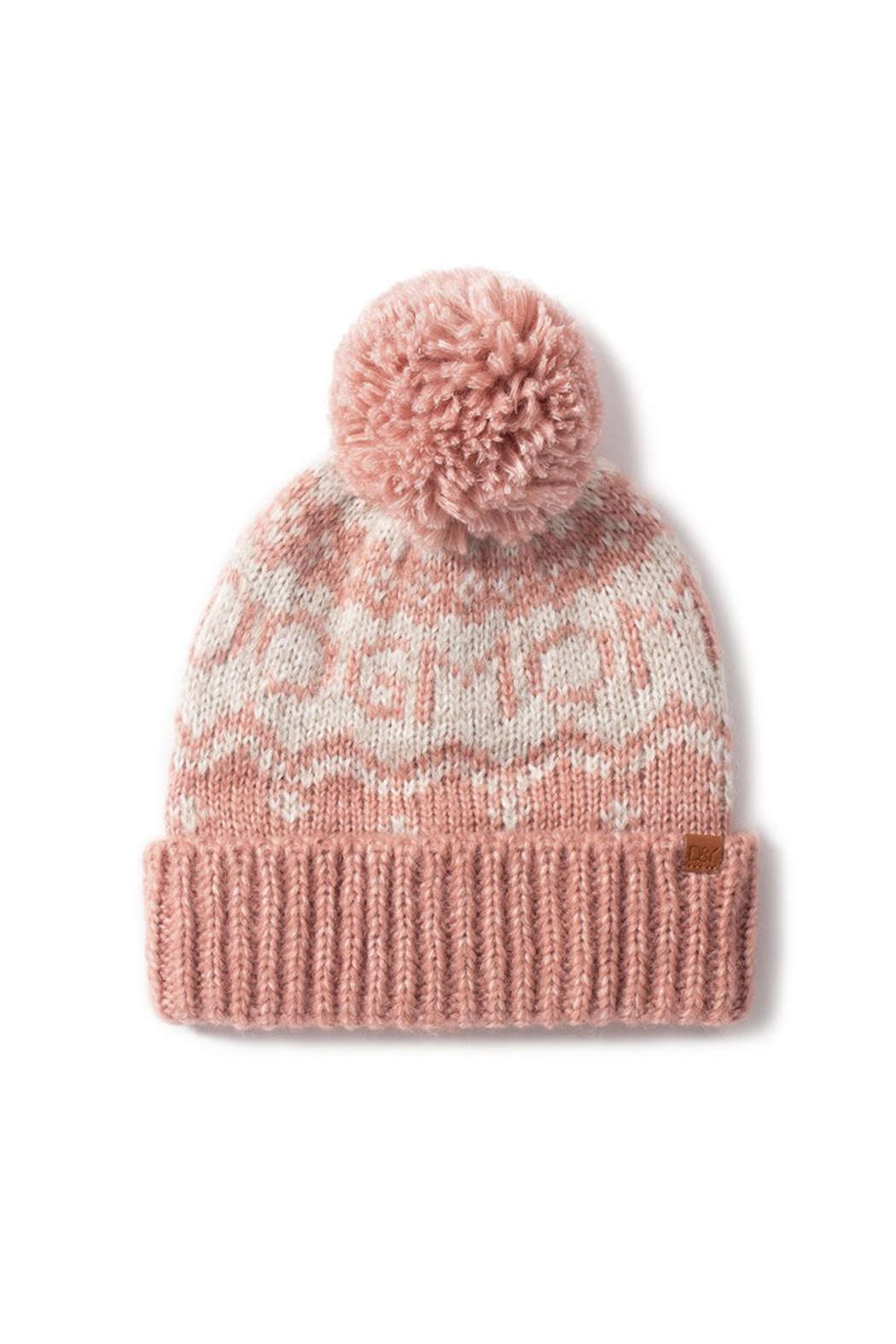 david and young Dog Mom Pom Beanie - Front Full Image