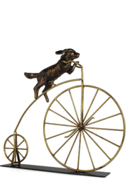 Sagebrook Home DOG ON BICYCLE - Front cropped