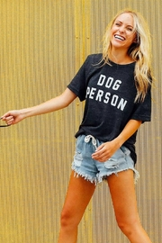 Friday + Saturday Dog Person Graphic Tee - Product Mini Image