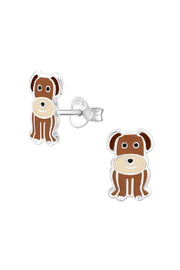 Silver Jewels Dog Silver Stud Earrings - Front cropped