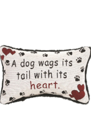 Manual Woodworkers and Weavers Dog Wags Pillow - Product Mini Image