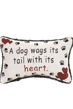 Manual Woodworkers and Weavers Dog Wags Pillow - Alternate List Image