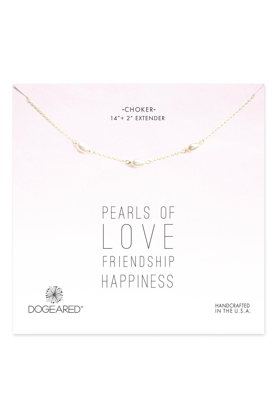 Dogeared Pearls Of Love Necklace - Front Cropped Image