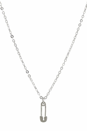 Dogeared Silver Safety Pin Necklace - Product Mini Image