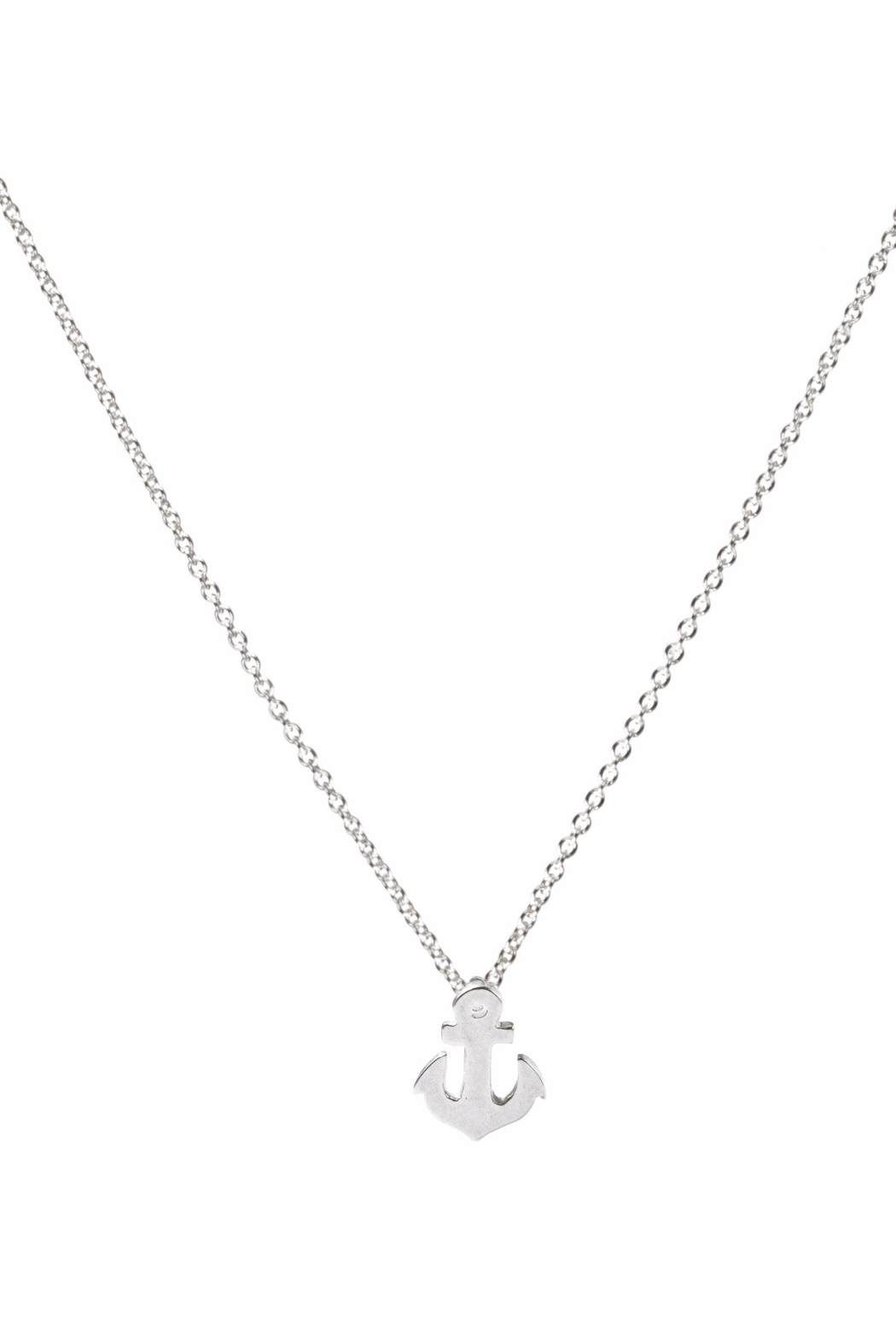Dogeared Sterling Silver Anchor Necklace - Main Image