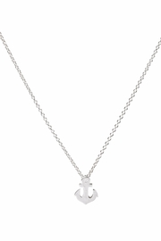Dogeared Sterling Silver Anchor Necklace - Front cropped